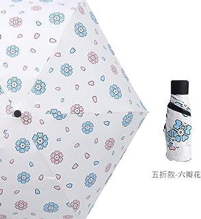 Mini Small Umbrella Clear Pocket Anti UV Umbrella Windproof Five Folding Umbrellas Compact Rain Children Umbrellas Rainproof|Umbrellas|Home & Garden