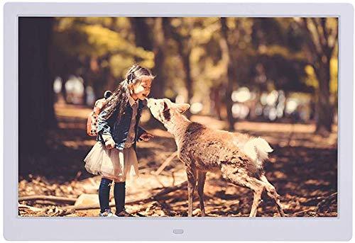 ZWFS 14-inch digitale fotolijst 1280 * 800 full-HD display-IPS-display met foto/muziek/videokalender auto op afstand aan/uit timer met ondersteuning voor USB en SD-kaart