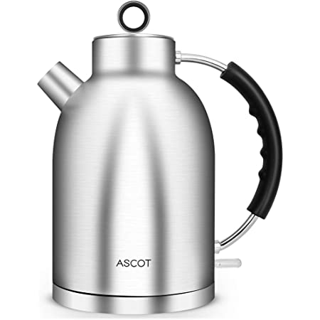 Kettles Electric Water Tea Kettle Ascot Tea Heater Hot Water Boiler 1 7qt 1500w Stainless Steel Bpa Free Cordless Automatic Shutoff Boil Dry Protection Silver Kitchen Dining