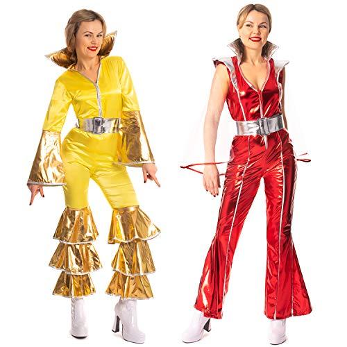 Super Trooper Mono rojo Mamma Mia Dancing Queen con capa pequeña UK 8-10