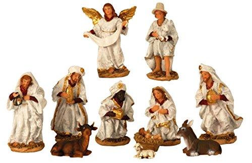 Krippenfiguren 11-teiliges Set Krippe Weihnachten Größe von 2,5 - 14 cm