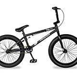 TRACER Edge 3.0 Freestyle BMX Bike for Young boy and Adult Beginner-Level to Advanced Riders Hi-Ten Steel Frame Bicycles Multiple Colors (20' - Matte Black)