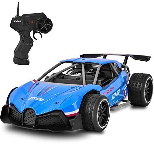 Yuboa Drift RC Car Remote Race Car Toy,2.4Ghz Radio Controlled RC Racing Car Rechargeable Electric Race Car High Speed Remote Control Car Xmas Present for Kids Boys Blue