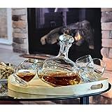 SABLES & REFLETS Karaffe Kreisel/Whisky oder Wein/750ml/Produkt handgefertigt/Sande & Lichtreflexe