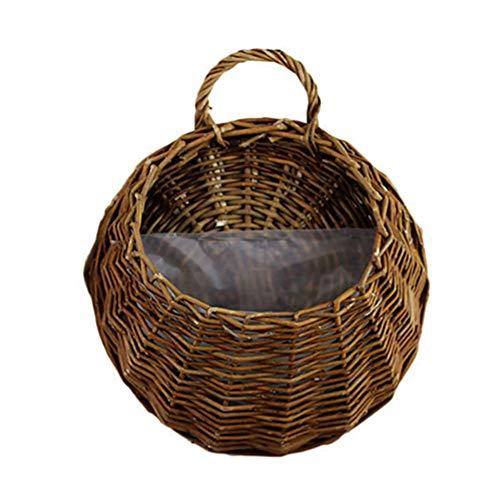 Eugeneq Birds Nest Wall Hanging Basket Wicker Gardening Home Garden Wedding Wall Decoration