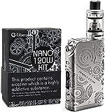 CIBERATE® TG Nano 120 W sigaretta elettronica Vape Mod Box Kit di - Vaporizzatore da 0,15Ω - VC TCR VW VT - senza batteria 18650 -Not Nicotina, 1 pezzo, Silvery