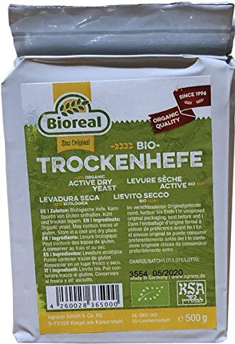 Bioreal Organic Active Dry Yeast 500 Grams (1.1 Pound)