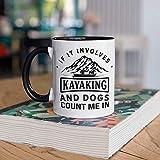 DKISEE Kayaking and Dogs Mug, ...