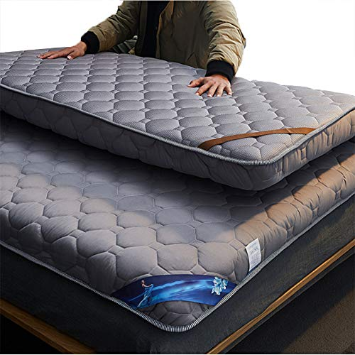 SJH Double-sided Dual Purpose - Tatami Mattress,full Filling,fluffy And Easy To Fold,soft And More Comfortable,four Seasons Brushed Fabric,enjoy A Fresh (Color:gray (10CM),Size:150x200cm)