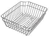Cesta rectangular de acero inoxidable compatible con fregaderos Paldos