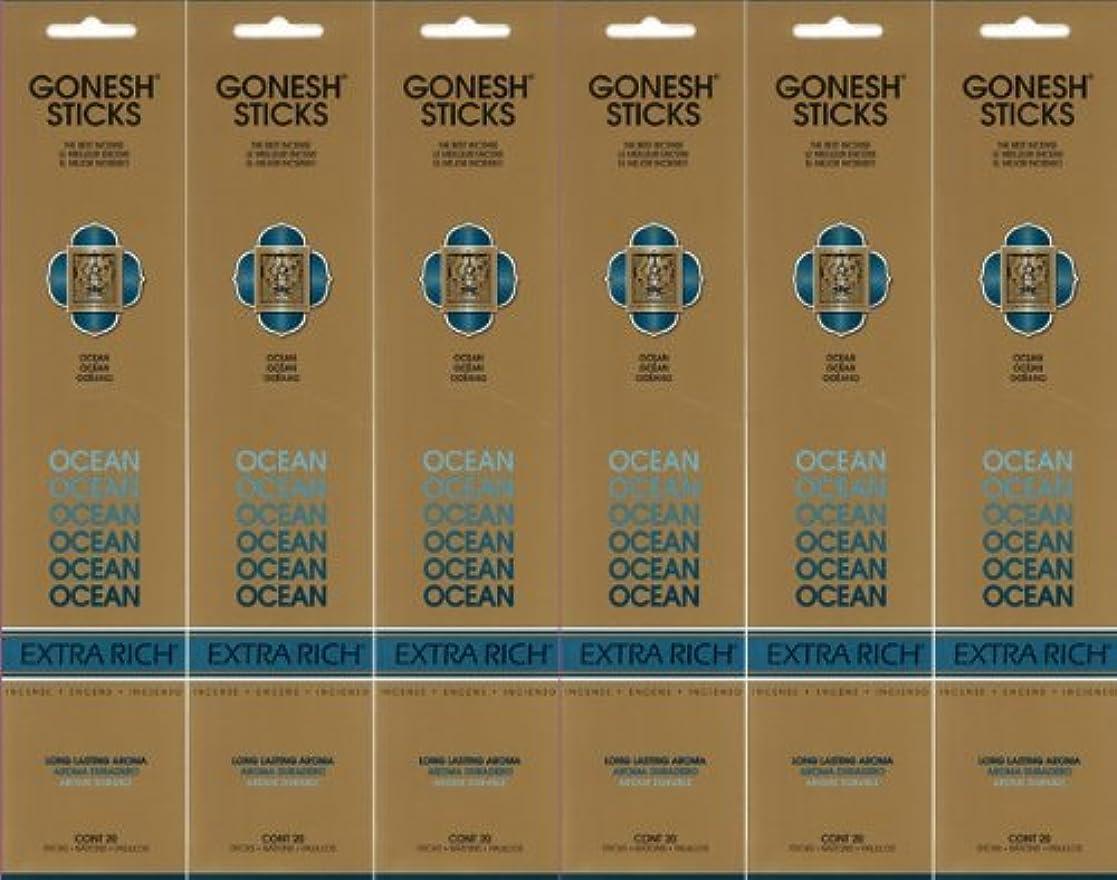 合金ソース一月GONESH ガーネッシュ OCEAN オーシャン スティック 20本入り X 6パック (120本)