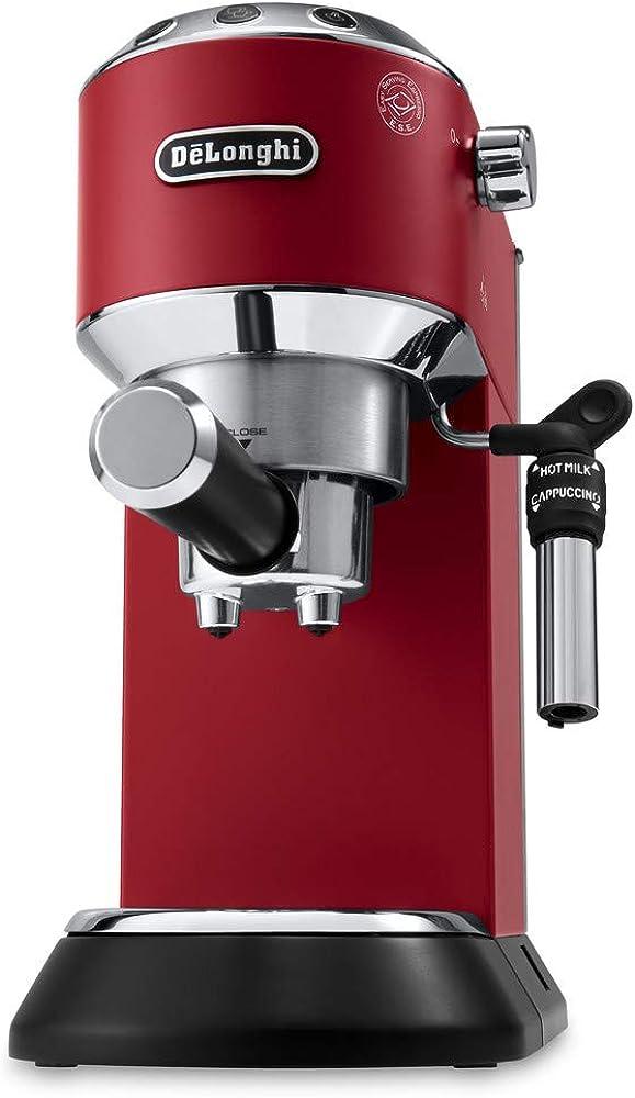 De`longhi dedica,macchina da caffè espresso manuale e cappuccino, caffè in polvere o in cialde e.s.e., 1350 w EC 685.R