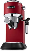 De'longhi Dedica Style Pump Coffee Machine (Red)