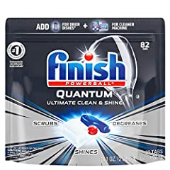 Finish Quantum Scrubs, Degreases, and Shines. Because There's Clean. Then There's so Clean It Shines 3 Separate Fast Dissolving Chambers, Delivering 3 Different Power Actions Powder: Scrubbing Power to Break Down & Remove Toughest Stuck on Food in On...