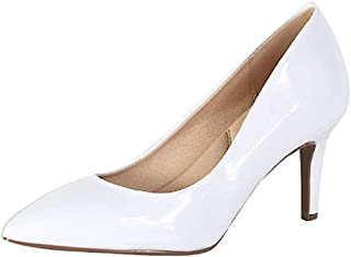 City Classified Soda Coen-2 Pointy Toe Pump (5 M US, White Patent)