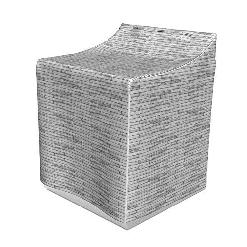 ABAKUHAUS Taupe Waschmaschienen und Trockner, Bild von einem Parkett Grau Holz Textur Rusty Retro antiken Alte Anzeige Striped Tile, Bezug Dekorativ aus Stoff, 70x75x100 cm, Taupe Grau