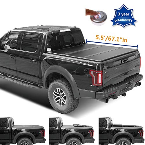 JJ 5.5ft 67.1 inches Hard Tri Fold Truck Bed for 2015-2019 Ford F-150 Short Bed Tonneau Cover with...