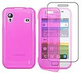 ebestStar - Funda Compatible con Samsung Ace Galaxy S5839i, S5830, S5830i Carcasa Cartera Proteccion Formato Libro, Silicona Gel Case Shock-Absorción, Rosa [Aparato: 112.4 x 59.9 x 11.5mm, 3.5'']