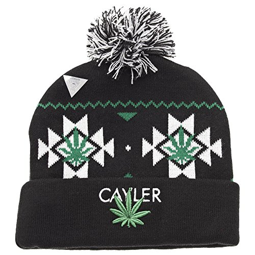 Cayler and Sons Cayler Pom Pom Beanie Black White Green
