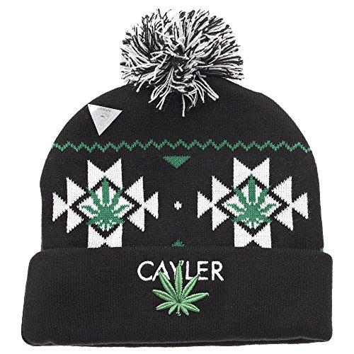 Cayler and Sons Cayler Pom Pom Beanie Bonnet Black White Green