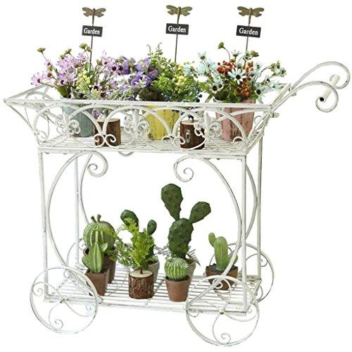 Ali@ Pays D'Amérique En Fer Forgé Vintage Fleur Décorative Stand Balcon En Plein Air Jardin Café Fleuriste Étagère De Rangement