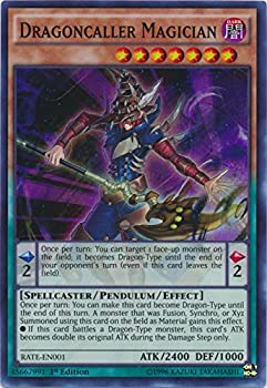 yu-gi-oh Dragoncaller Magician - RATE-EN001 - Super Rare - 1st Edition - Raging Tempest