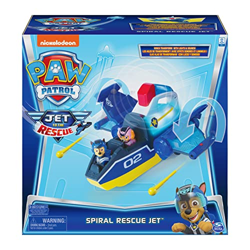 Paw Patrol, Jet to The Rescue Deluxe Transforming Spiral Rescue Jet with Lights and Sounds