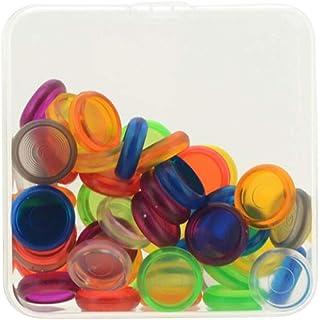 joyMerit 50 Pcs Notebook En Plastique Disque Reliure Champignon Trou DIY Boucle Reliure