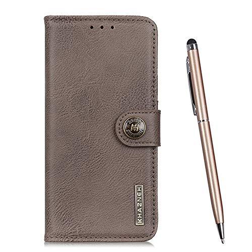 TOUCASA für LG Q7 Hülle, Handyhülle Brieftasche PU Leder Flip [Rindsleder Textur] Hülle Magnetverschluss Handytasche Klapphülle Hülle für LG Q7 (Grau)
