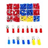 Zoostliss 280PC Electrical Connectors Mixed Assorted Lug Kit Insulated Spade Wire Connector Crimp Terminal Spade Ring Set