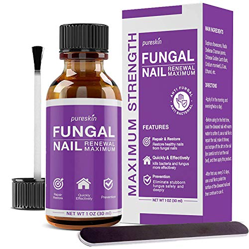 Fungal Nail Renewal - Maximum Strength Nail Fungus Treatment, Toe Fungus Nail Treatment, Health Care Solution for Finger & Toenail Fungus, Athlete's Foot, Ringworm by Fungus