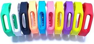Colorsheng 10 Pieces Colorful Replacement Bands for Go-tcha, Xiaomi Mi/1S Tracker Smart Bracelet