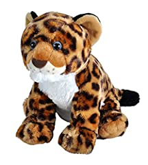 The distinct spots on the Jaguar stuffed animal will be sure to captivate you or anyone that it touches. Known for being the largest cat in the Americas, our plush toy measures to be 12 inches of adorable softness. Their spots resemble roses and can ...