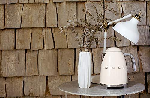 Smeg KLF03CRUK Retro Style Kettle, Water Level Indicator, 360 Swivel Base, Anti-Slip Feet, Soft Opening Lid, Stainless Steel, 3000 W, 1.7 Litre, Cream Kitchen & Home Appliances Garden & Outdoors