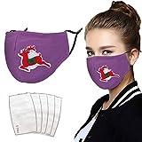 1 STK. Mundschutz, Mund- und Nasenschutz Erwachsene Schneemannmotiv, Frauen Männer Mund Nasenschutz(F)