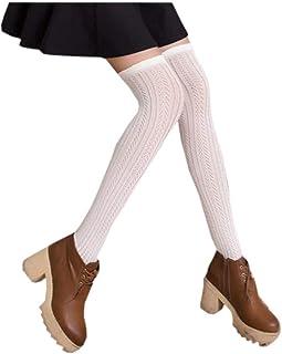Señoras Overknee Medias Overknee De Simples De Calcetines Algodón Moda Estilo Simple Joven Transpirable Elástico Calcetines De Ocio