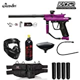 Maddog Azodin KAOS 2 Silver Paintball Gun Package - Purple/Black