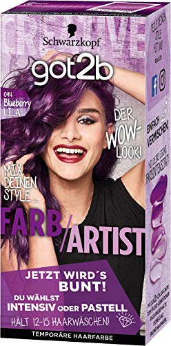 SCHWARZKOPF GOT2B Farb/Artist 094 Blueberry Lila, 3er Pack (3 x 80 ml)