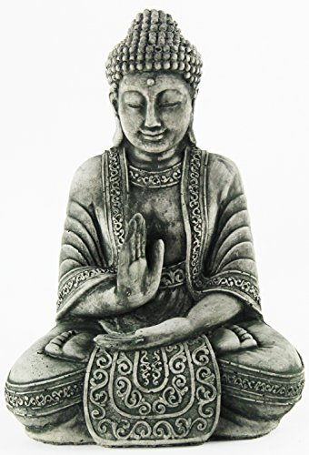 Buddha Meditating Statue Home and Garden Asian Collection Statues Cement Figures Concrete Buddhas