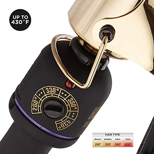 HOT TOOLS Signature Series Gold Curling Iron/Wand, 1 ½ Inch