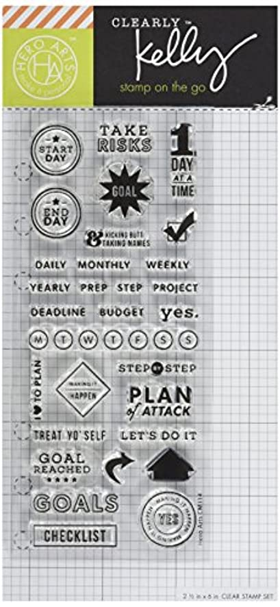 Hero Arts Clearly Kelly's Goal Planner