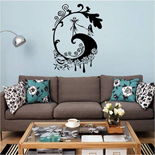 Gutonghao Nightmare Before Christmas Fototapete Halloween Applique Retro Poster Schlafsaal Bar Club Dekoration 42X57Cm