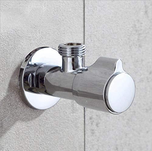 Jukunlun Kupfer-Kalt- Und Warmwasser-Dreiwegeventil Küchen- Und Wc-Toilettenwasser-Absperrventilschalter Heiß- Und Kaltwasser-Absperrventil (2 Stück)