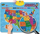 Learn & Climb United States Interactive Map for Kids Over 700 Facts