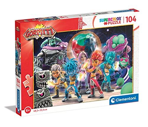Clementoni Supercolor Gormiti 104 pezzi-Made in Italy bambini 6 anni puzzle cartoni animati, Multicolore, 27551