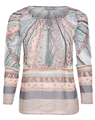 Geisha polyester tuniek blouse nakt grijs