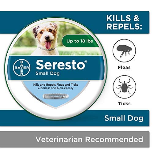 Seresto Flea and Tick Collar for Dogs, 8-Month Tick and...