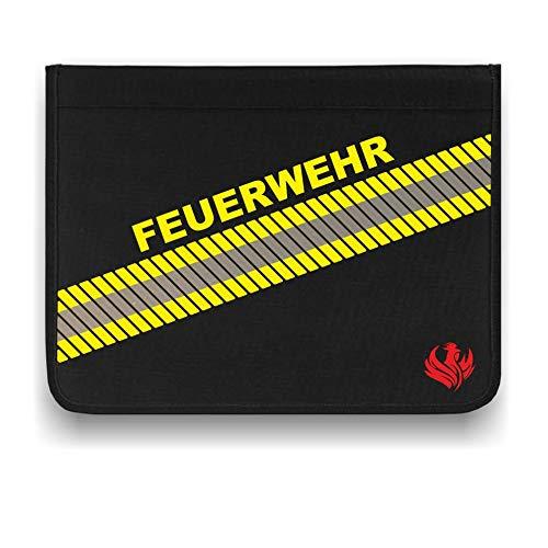 Roter Hahn 112 Hochwertige Feuerwehr 3M Scotchlite Schreibmappe Organizer Konferenzmappe HUPF Design Reflex