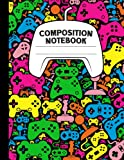 Composition Notebook: Colorful Controllers Video Game Notebook   Wide Ruled, 8.5 x 11, 110 Pages Journal / Notebook For Boys, Girls, Teens, and Gamers