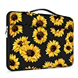 Lapac 15-15.6 inch Laptop Sleeves Handle Bag Compatible with MacBook Pro 15 16 inch, Notebook Computer, hp Chromebook Case, 360 Protective Briefcase & Water Resistant Black Sunflower Bag with Pocket